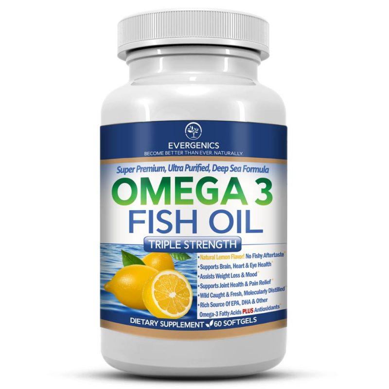 Super premium omega 3 fish oil evergenics health and for Omega 3 fish oil benefits skin
