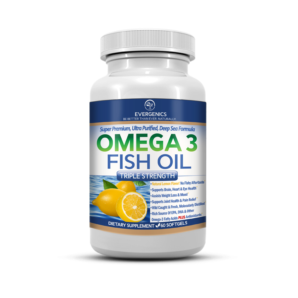 Super Premium Omega 3 Fish Oil Evergenics