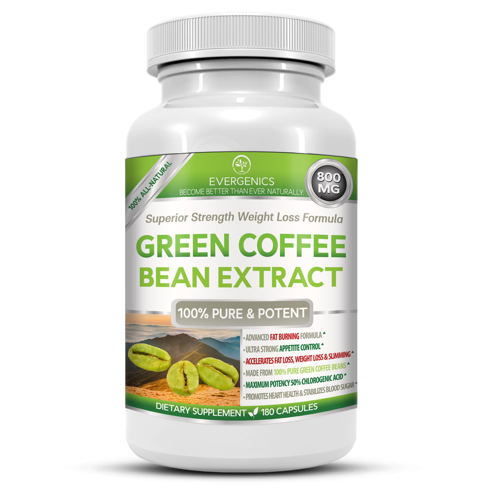 Green Coffee Bean Extract Weight Loss Formula Bottle