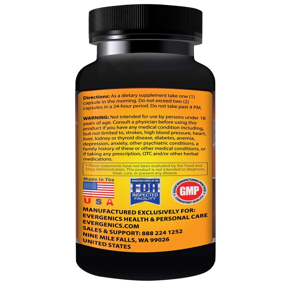 Helioburn Extreme Weight Loss & Energy Formula Usage Information Bottle