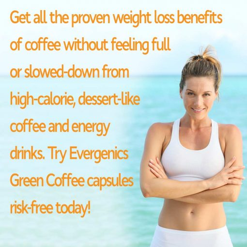 Woman losing weight with Green Coffee Bean Extract