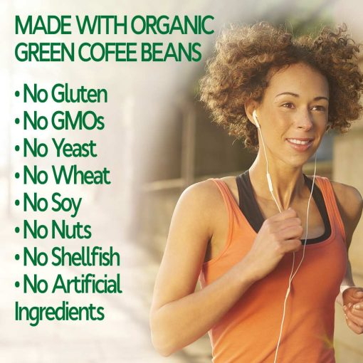 Woman losing weight with organic green coffee bean extract
