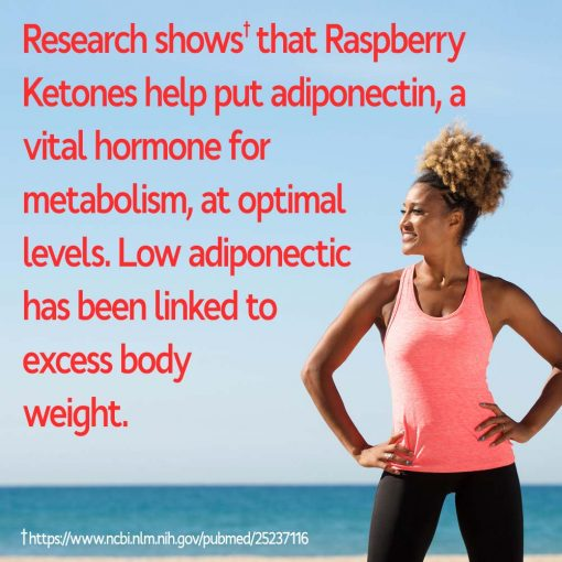 Woman enjoying weight loss with Raspberry Ketones