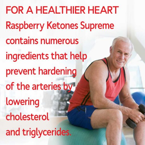 Man helping his heart health with Raspberry Ketones Supreme