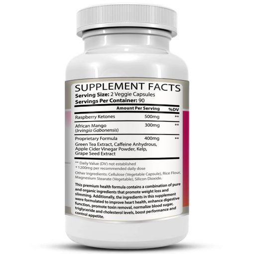 Raspberry Ketones Supreme Bottle Facts