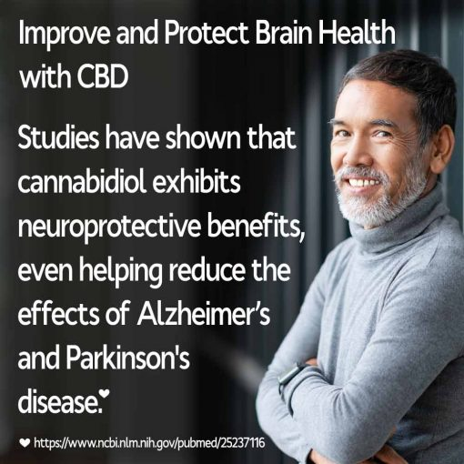 Man Protecting Brain Health with CBD Hemp Oil