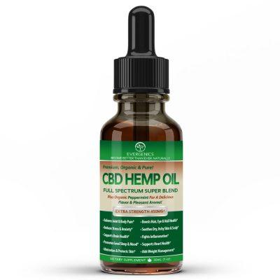 CBD Hemp Oil Bottle