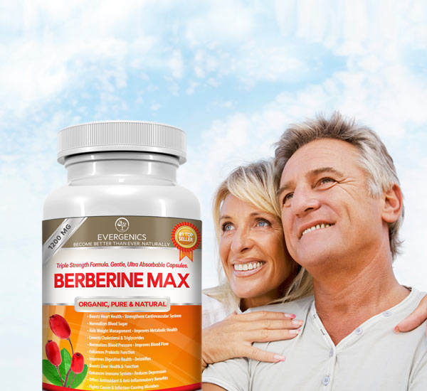 Berberine HCl for improved blood sugar, lower blood pressure, better digestion, weight loss and overall health
