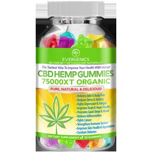 Evergenics CBD Hemp Cannabidiol Organic Gummies